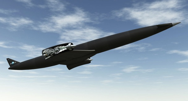 SKYLON in flight showing the SABRE engine.