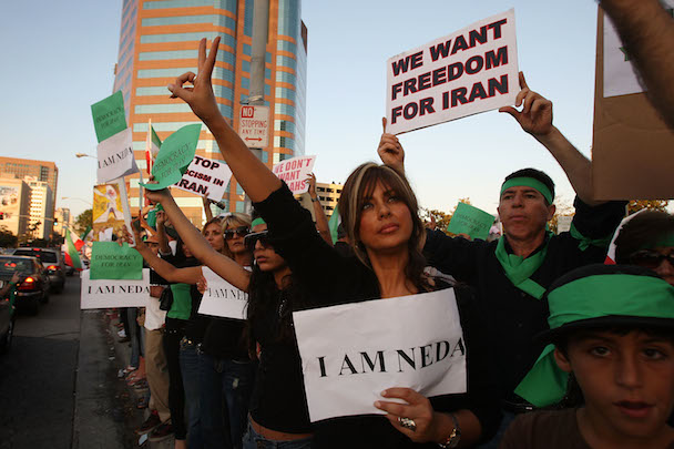Iranian-American Protestors Rally In Southern California