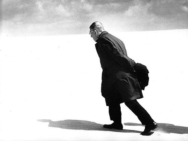 Antanas Sutkus - Jean-Paul Sartre in Lithuania_ Nida, 1969