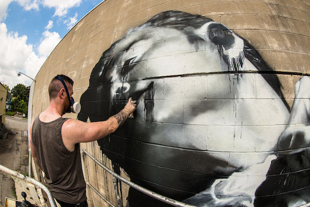 Conor Harrington Heads Mural Action In Rochester, New York