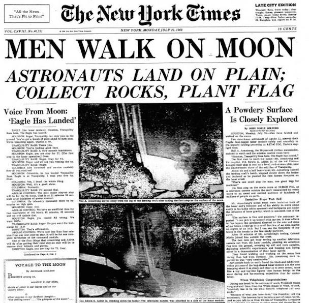 Rare-newspaper-First-landing-on-moon-Men-walk-on-moon