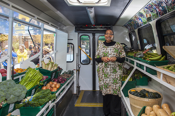 Mobile Good Food Market bus launch