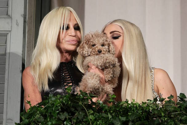 Lady Gaga and Donatella Versace Are All Smiles in Milan
